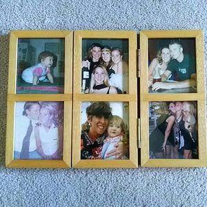 Trifold Wood Photo Frame